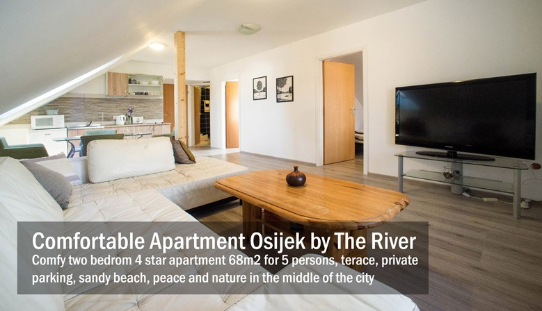 Two bedrom comfy 4 star apartment in Osijek 68m2