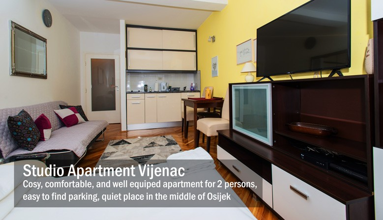 Studio Apartment in Osijek Vijenac 29m2
