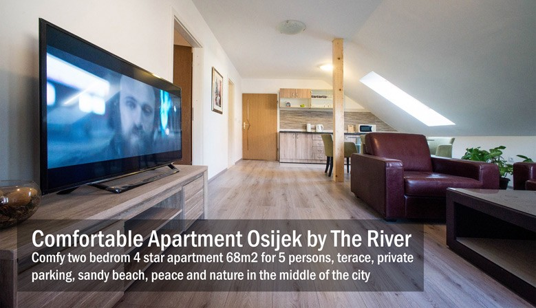 One bedrom spacious 4 star apartment in Osijek 68m2
