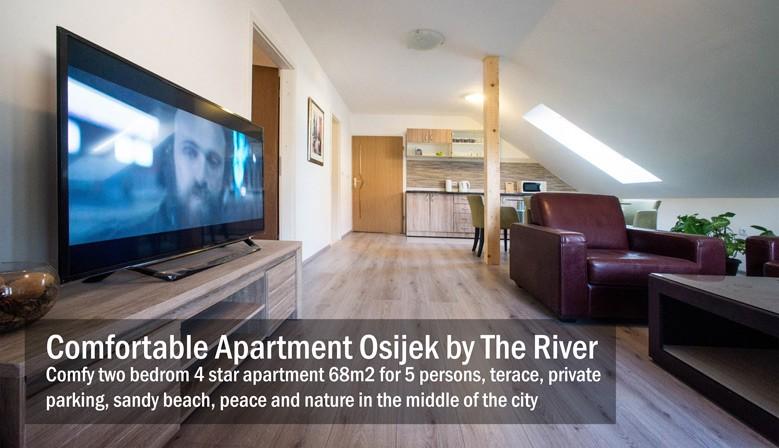 One bedrom spacious 4 star apartment in Osijek 68m2